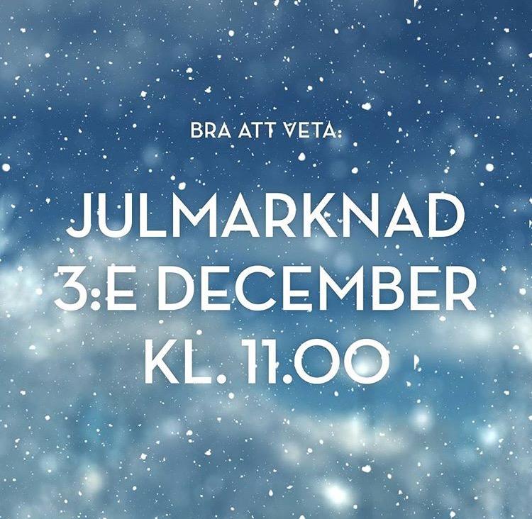 Julmarknad i Nya Hovås